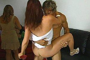 stepmother gives handjob
